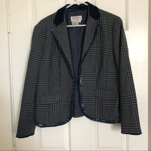 Worth Petite Blazer w/ Lace and Crushed Velvet